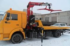 Эвакуатор КАМАЗ-4308 с КМУ