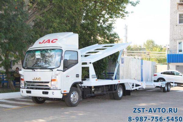 Экакуатор автовоз JAC N80 с прицепом